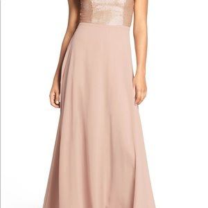 947651a7a46 LULUS sequin blush gown